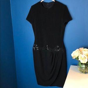 Chris Kole Black Embroidered Short Sleeve Dress